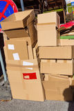 Waste paper from cardboard boxes Royalty Free Stock Photography