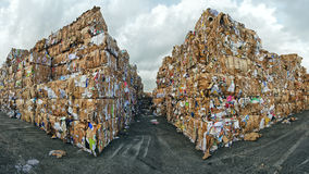 Waste paper. Huge masses of waste paper for recycling purposes Royalty Free Stock Photography