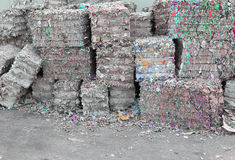 Waste paper in the paper mill for the production of recycled pap Stock Photography