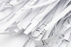 Waste paper shreds Stock Images