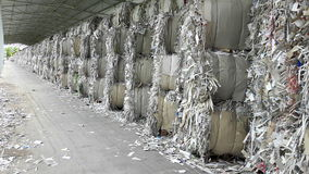 Waste Paper In Warehouse. Royalty Free Stock Images