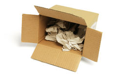 Waste Papers in Cardboard Box Royalty Free Stock Images