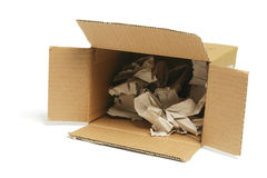 Waste Papers in Cardboard Box Royalty Free Stock Photography