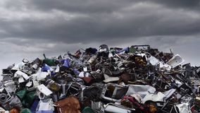 Waste. Photo of huge mound various waste landfills Stock Image