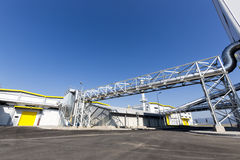 Waste plant blue sky Royalty Free Stock Images