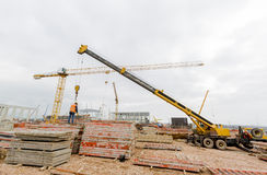 Waste plant construction site Royalty Free Stock Photos