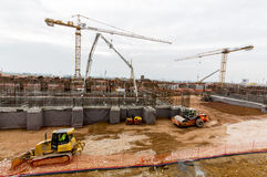 Waste plant construction site stock image