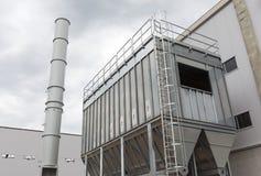Waste plant outside process storage methane oil organic Royalty Free Stock Image