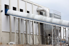 Waste plant outside process storage methane oil organic Royalty Free Stock Photo