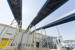 Waste plant pipelines Stock Photography