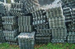 Waste plastic tray Stock Photo