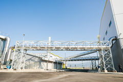 Waste processing pipeline system for processing waste gas Royalty Free Stock Image