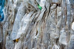 Waste recycling factory. Waste processing plant. Technological process. Recycling and storage of waste for further disposal. Business for sorting and processing stock photography