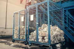 Waste processing plant. Technological process. Recycling and storage of waste for further disposal. Business for sorting. Waste processing plant. Recycling and Stock Photos