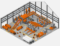 Waste processing plant. Royalty Free Stock Image