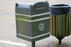 Waste Receptacles royalty free stock photography