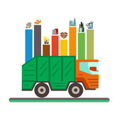 Waste recycling categories infographic flat concept. Royalty Free Stock Photography