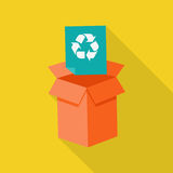 Waste Recycling Icon Royalty Free Stock Photos