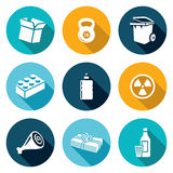 Waste and recycling Icons Set. Vector Illustration Royalty Free Stock Images