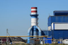 Waste recycling plant Royalty Free Stock Photos