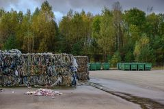 Waste recycling sorting plant Royalty Free Stock Images
