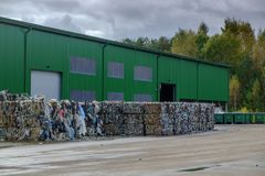 Waste recycling sorting plant Royalty Free Stock Photos