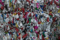 Waste recycling sorting plant Royalty Free Stock Photography