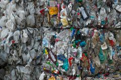 Waste recycling sorting plant Stock Photography