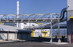 Waste recycling plant in Sofia, Bulgaria on Sept. , 2015 Royalty Free Stock Photography