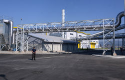 Waste recycling plant in Sofia, Bulgaria on Sept. , 2015 Royalty Free Stock Image