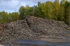 waste recycling sorting plant Stock Photo