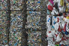 Waste recycling sorting plant Royalty Free Stock Image