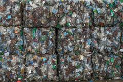 Waste recycling sorting plant Stock Images