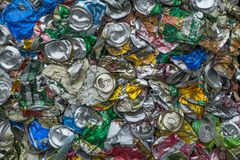 Waste recycling sorting plant Stock Image