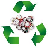 Waste recycling Symbol in white background. Waste recycling Symbol on white background Royalty Free Stock Images