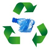 Waste recycling Symbol in white background. Waste recycling Symbol on white background Stock Photo