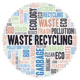 Waste Recycling word cloud vector illustration