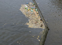 Waste on a river Royalty Free Stock Photography