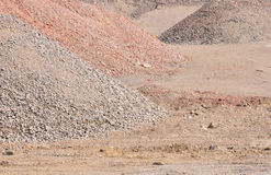 Waste rock heap Royalty Free Stock Images