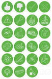 Waste rubbish icons Royalty Free Stock Photos