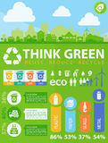 Waste segregation infographics Stock Photo