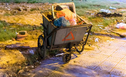 Waste separation. In a city in Vietnam Royalty Free Stock Image