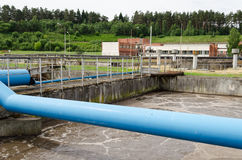 Waste sewage water aeration basin bubble Stock Photography