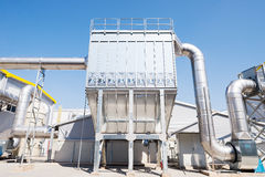 Waste silo in recycling waste to energy plant Stock Photography