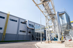 Waste silo in recycling waste to energy plant Stock Photos