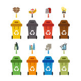 Waste sorting concept Stock Photography