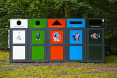 Waste sorting. MALMO, SWEDEN - JUNE 29: Waste sorting on June 29, 2014 in Malmo stock photos