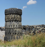 Waste tires dump Royalty Free Stock Photography