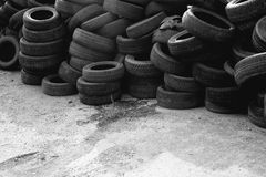 Waste tires Royalty Free Stock Images