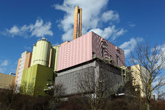 Waste-to-energy plant. In Wuerzburg stock image